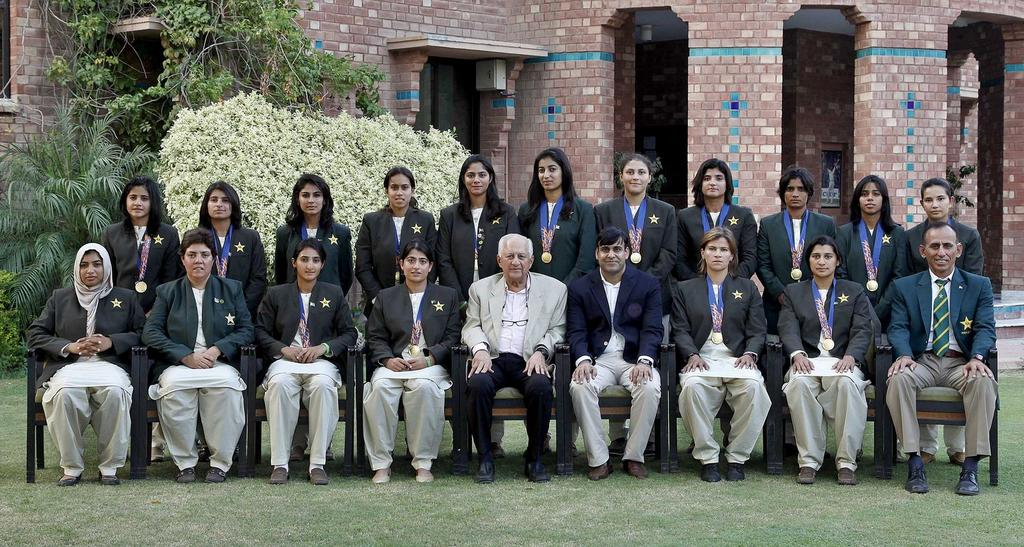 The Asian Games gold medal winning Pakistan Women's team met the PCB Chairman and COO